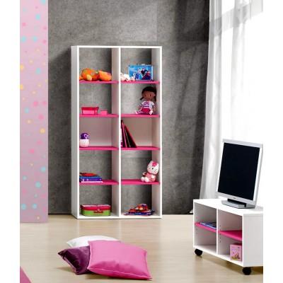 Elemento de Prateleiras Play - Branco/Rosa