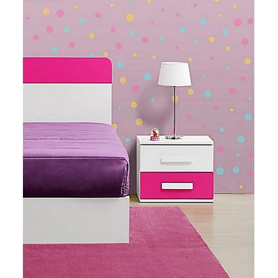Mesa de Cabeceira Play - Rosa/Branco