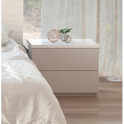 Mesa de Cabeceira IZI - Branco/Cinza