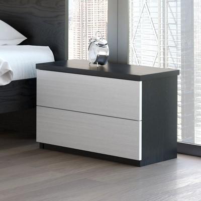 Mesa de Cabeceira IZI - Preto/Branco