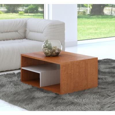 Mesa de Centro IZI - Cerejeira/Branco