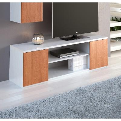Base TV IZI - Branco/Cerejeira