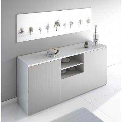 Aparador IZI - Cinza/Branco