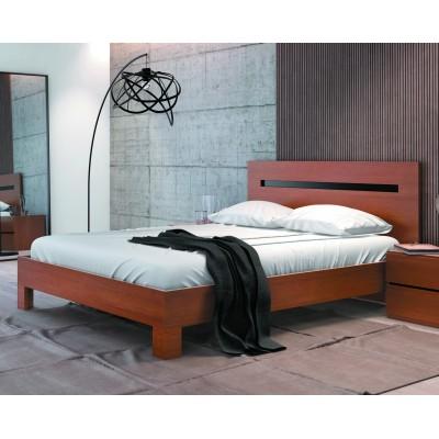 Cama de Casal Moon 310 - Cerejeira/Wenguê 195x150