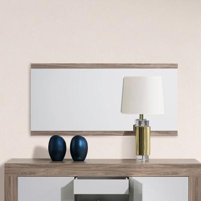 Espelho de Sala Madrid - Nogal
