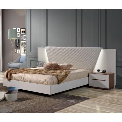 Cama de Casal Kenzo - Branco/Chanel 200x150