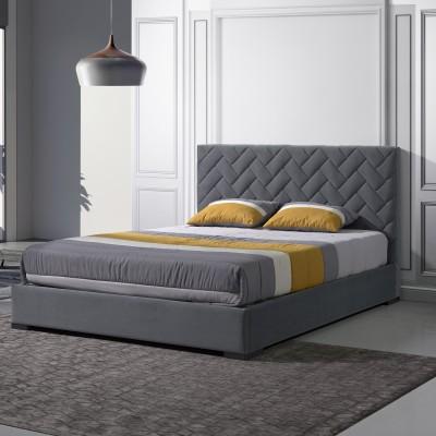 Cama Estofada Sonata - Steel 195x150